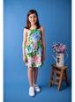 Zeyland Yeşil Çiçek Desenli Askılı Elbise (5-14yaş) Yeşil Çiçek Desenli Askılı Elbise (5-14yaş) Yeşil